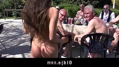 lucky old men gang bang Anitas little holes