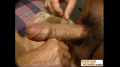 Chubby granny with big boobs fucks