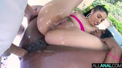 Sexy Kourtney Kardashian first anal fucking and ass fucking
