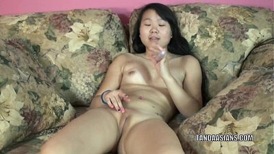 Asian Classmate Catches Orgasm Till Dildo Play
