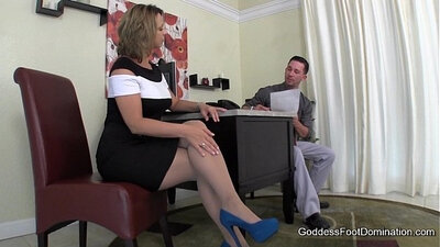 Footjob no head interview with snow bunny