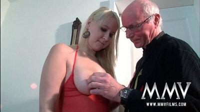 Grandpa Sucks and Fucks Horny Teen