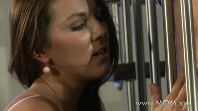 Brunette mom and friend suck each others cock
