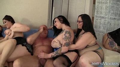 Lovely women share a fat cock