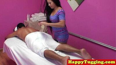 Asian massage Helena gets a handjob from photographer