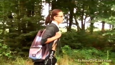 Hot busty schoolgirl fucked in Hotel