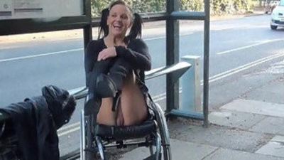 Paraprincess public bareness and handicapped pornstar flashing