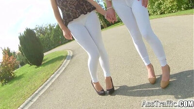 Brunette with a sexy ass is getting anally vibed