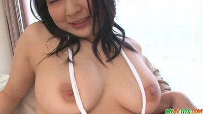 Big tits japanese girl masturbating