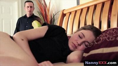 Brunette babysitter from the UK gets drilled hard in bed