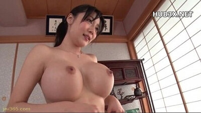 Asian brunette babe with stunning ass screwed by some baseball bat