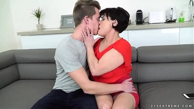Hot young hunk doll sucking dick and riding cock