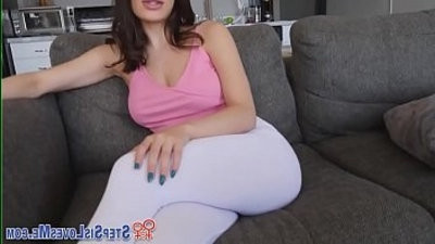 Teen stepsis dribbles cum