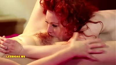 Cute redhead MILF in tan dress gets cumshot