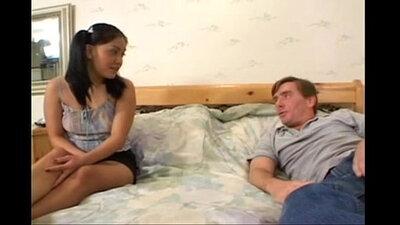 Asian cuttie seduces stepdad for anal sex