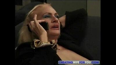 Fervent blonde beauty teaches her mature stud Elliot