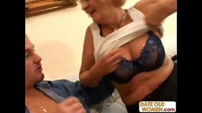 Clean granny cant wait to suck young studs big thick sausage