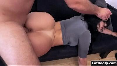 Brunette BBW Breeds A Super Hot Latina And Has An Ass Filling
