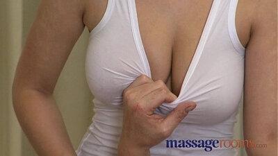 Busty blonde pounded after massage orgasm