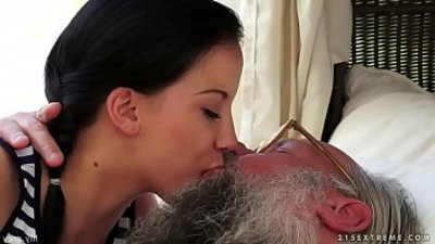 Old young smooching compilation