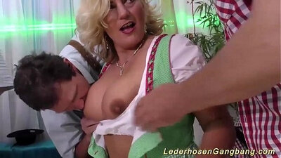 Busty Milf Theater - Real Orgy