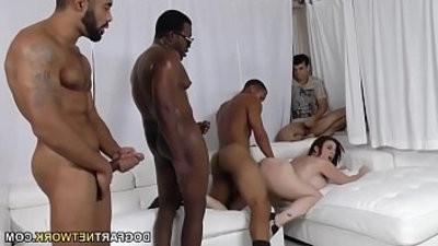 D s Sara Jay groupbanged by black dicks