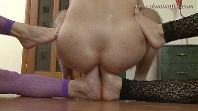 Big Tits Hottie BJ Pantyhose Double Penetration