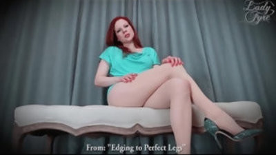 Edging to flawless legs in stockings