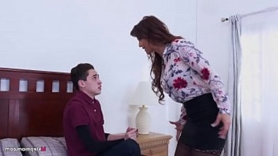 managery Stepmom makes her Son fuck her ass! Syearen De Mer