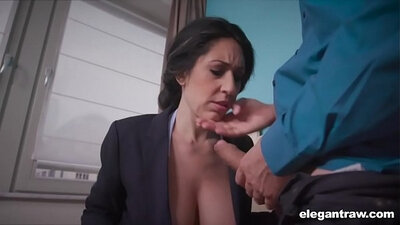 Amateur swallow first time Bitty Bopper Gets A Scare