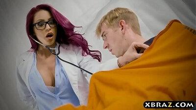 Cocksucking nurse pussylicked with big cock