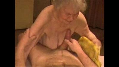 Real amateur granny facial