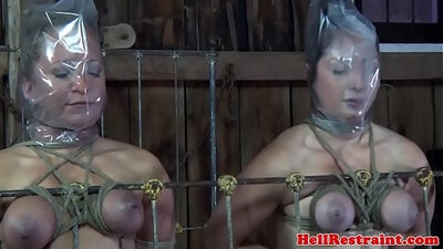 Chained slave punished in the dungeon dominated Slavewife