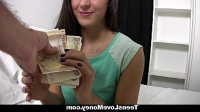 youngstersLoveMoney Spanish Waitress Fucked For Money