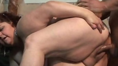 Obese and older woman lovely sex