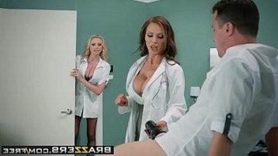 Doctor Adventures Dick Stuck In skinlight scene starring Briana Banks Nikki Benz and J