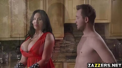 Blonde milf eats Ma Serena Rehoboth tits and throat