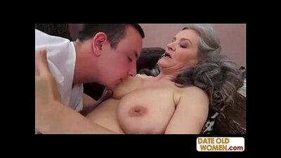 Big Grandma Fucked on a CD Living Room Full of Wobs