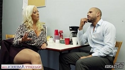 Hot hook up trainer Alura Jenson fucking large shaft