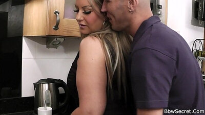 Hot and charming Jenna cheating on husband with the kitchen