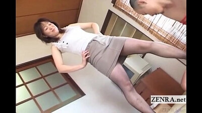Japanese milf pantyhose riding