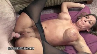 Petite housewife Leeanna Heart is taking on a stiff white cock