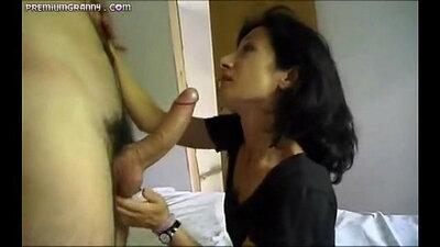 Sexy fucked mature horny brunette