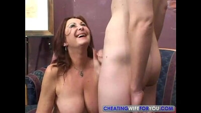 Mature brunette milf Angelina Jolie fucking in a laundry box