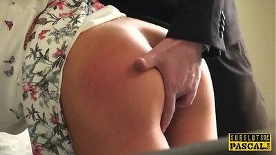 Auburn English slut gets spanked by Agent
