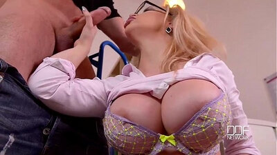 Busty secretary fucked after office hardcore