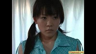 Asian stunner in school dress