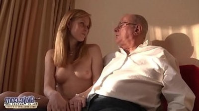 Old Young Porn Grandpa likes to fuck young young femasculines lick pussies