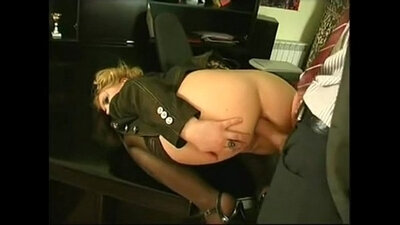 Office anal insertion and contest