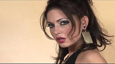 Beautiful girl in high heels masturbating on webcam